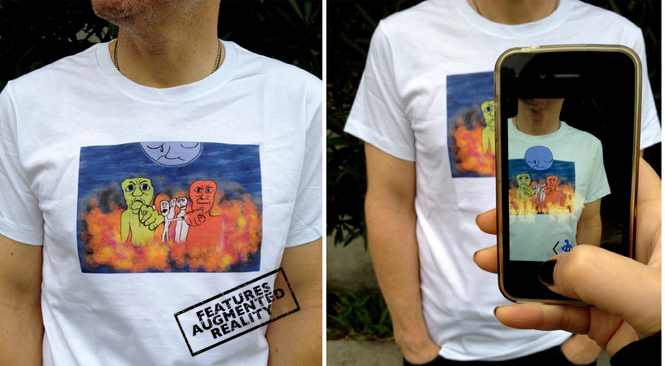 On Trial - Augmented Reality T-Shirt by Daniel Leighton
