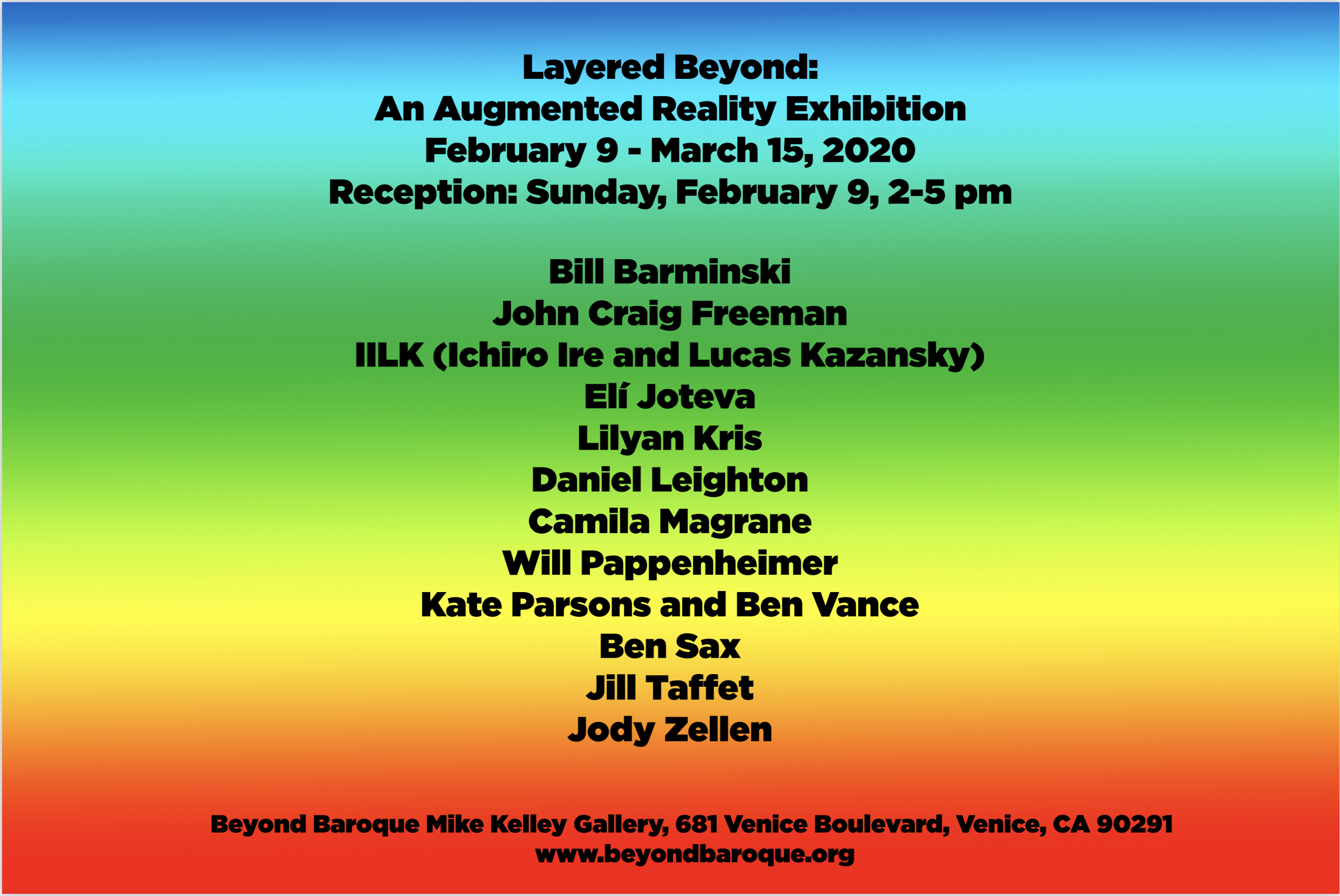 Layered Beyond: An Augmented Reality Art Exhibition